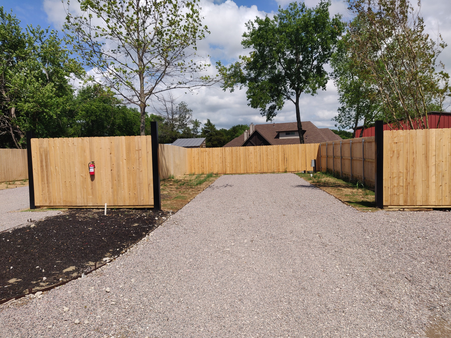 Fully fenced in lot before gate install