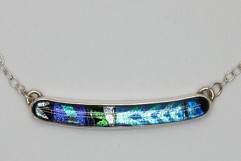 Blue, green, purple dichroic necklace