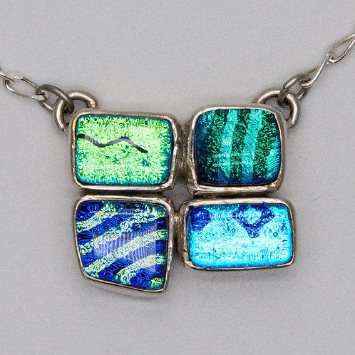 Four piece blue/green pendant