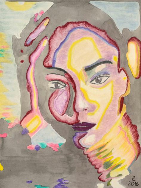 african lady yellow – pastell auf bütten 55 x 78