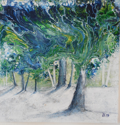 Bäume im Wind  Fluid Acryl 2019