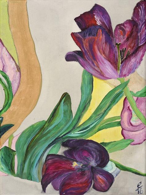 tulpen – acryl – 30 x 40 serie 4/7