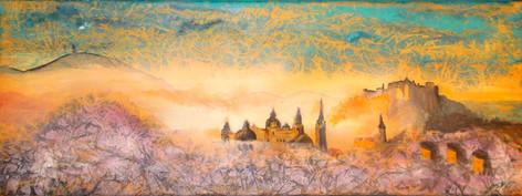 Salzburg im Morgennebel80x30