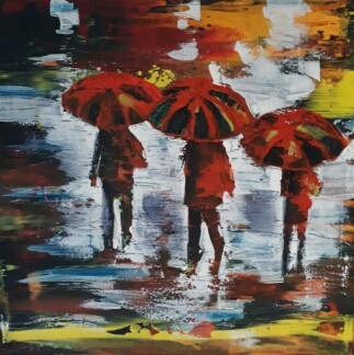Walking in the rain_2017