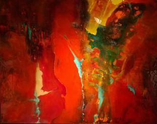 Abstrakt 80x100cm Acryl