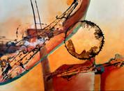 Abstrakt Mischrechnik 60x80 cm