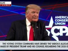 Fake Fox News Runs 'Misinformation' Disclaimer During Trump's Speech