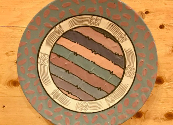 1989 Cunningham Ceramic wall art