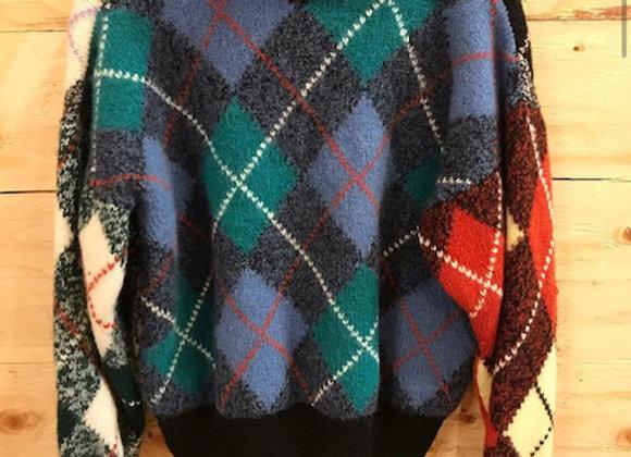 Wool Tartan Sweater S/M