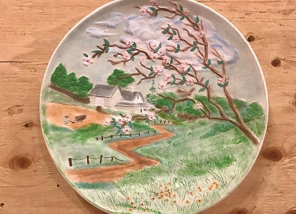 1972 Ceramic Farm Scene