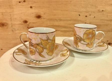 Pink/Gold Espresso cups