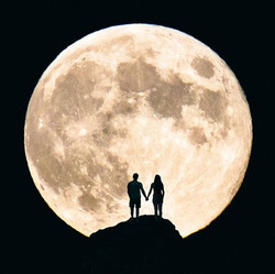 silhouette-couple-holding-hands-against-