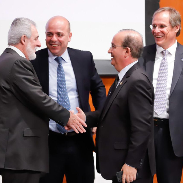 Carlos Melles e Bruno Quick do Sebrae  e Carlos da Costa do Ministério  da Econômia