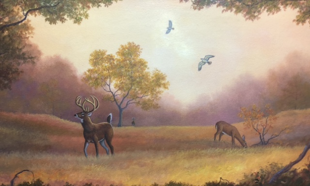 Two Gold Deer