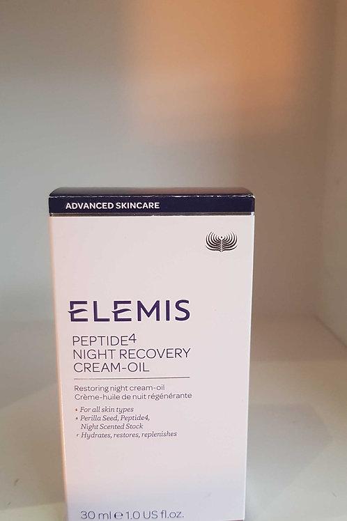 Elemis peptide4 night recovery cream oil