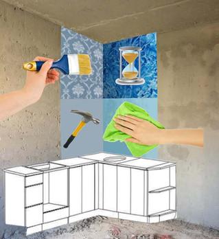 Стены на кухне: обои или краска?