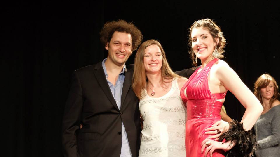 Eric Antoine , Magicien Illusioniste, Alexandra Worst , Organisatrice du SDG , et moi même