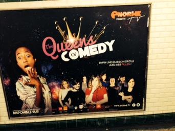 Affiche dans le métro