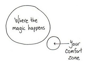 Stepping out of our comfort zone is where our freedom is!