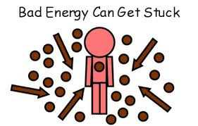 Bad energy can get stuck in your energy field
