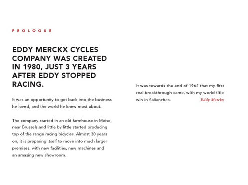 Eddy Merckx corporate brochure - texts