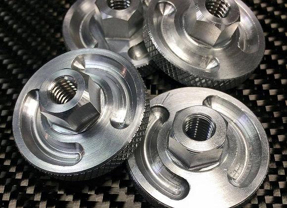 Back wheel adjuster nuts, by pair