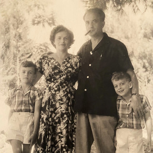 Bundi, his second wife Gina & their sons Giora and Eran, 1956