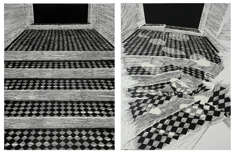 Diptych - Stairs II & IV