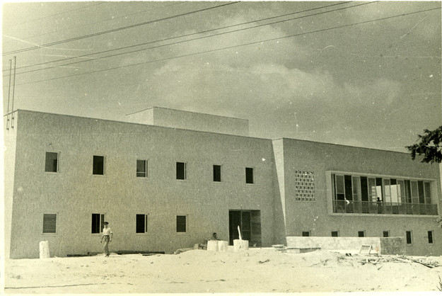 The Histadrut House Being Constructed