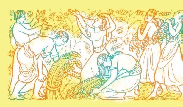 איור צבעוני של רות המואביה