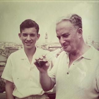 בונדי ובנו גיורא בפירנצה, איטליה, 1964