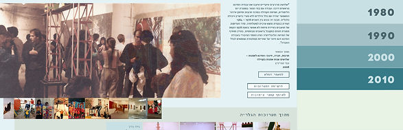 Ami Steinitz contemporary art, website design