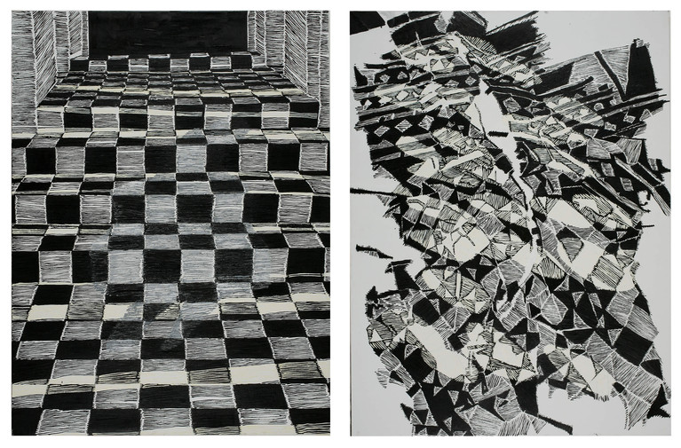 Diptych - Stairs VIII & X