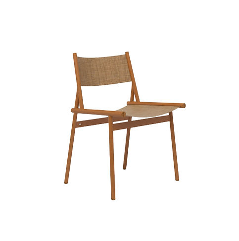Contemporary african outdoor chair in steel and fabric or leather available in spain france and belgium
