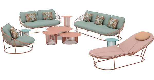 Contemporary African Outdoor Lounge furniture available in europe