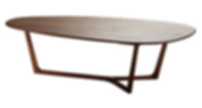 Melike Coffee Table in sold walnut wood by Meyer von wielligh available in europe france spain portugal by mimic collection of african designs art and collectible luxury furniture