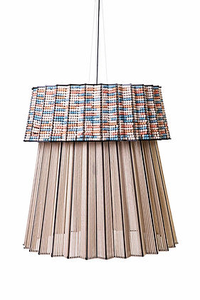 Contemporary african lighting with handmade cord and bead detailing spain france belgium