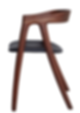 Walnut and leather dining chair by meyer von wielligh