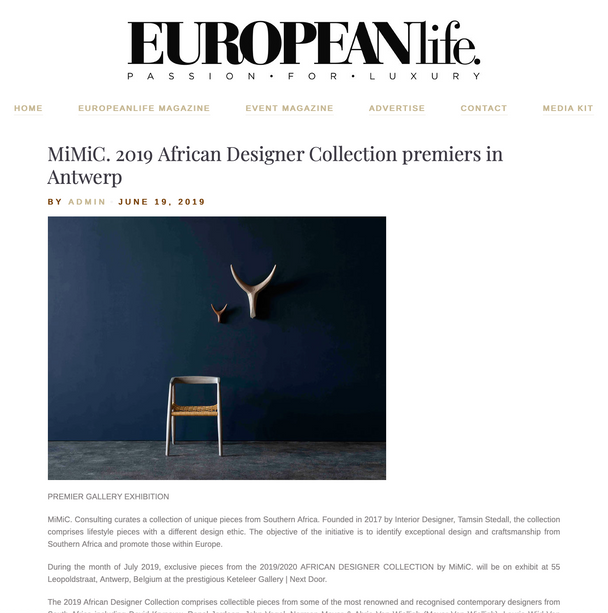 MiMiC features in European Life Magazine