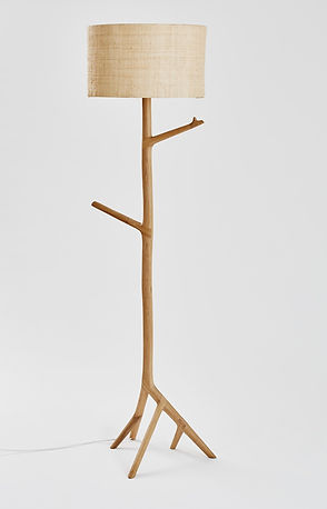 Meyer Von Wielligh Umthi Standing Lamp | Oak Ash Walnut Solid Wood available in spain france and portugal through mimic 2020 collection of african designs