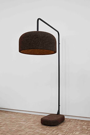 Wiid Design Standing lamp, giant lamp, cork lamp, wiid design, african lighting, modern lighting, available in spain france and portugal through mimic 2020 collection of african designs