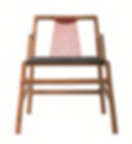 Joburg chair 602 with red cord detail ad grey leather seat by david krynauw