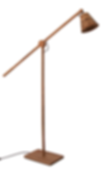 David Krynauw Standing Lure Lamp | Kiaat African Iroko Walnut Ash Oak Brass Copper Shade