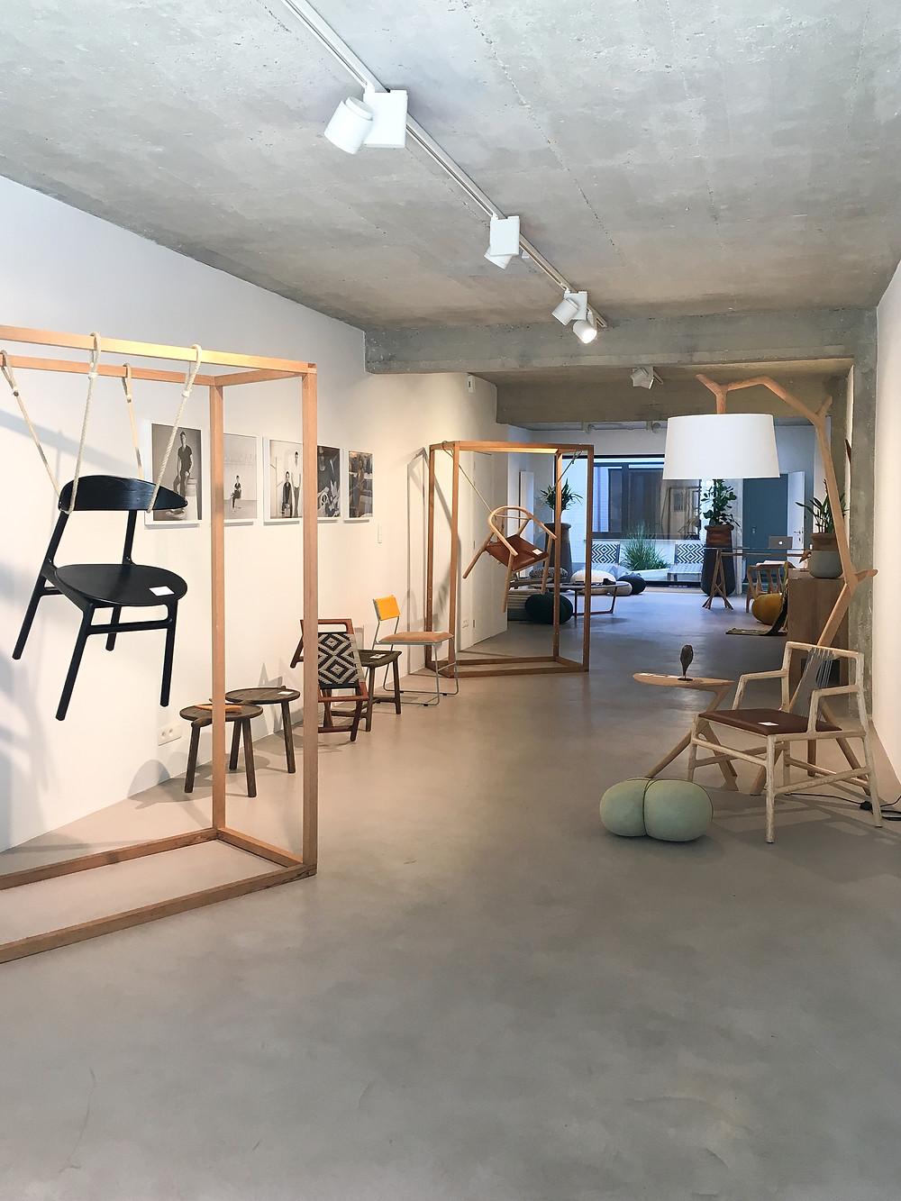 exhibition, antwerp, south african design, furniture, showcase, mimic, planters, decor, lighting