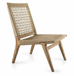 Slip Chair by John Vogel in ash wood with grey stain and canvas crosshatch cord weave in europe spain france portugal by mimic collection of african designs art and furniture