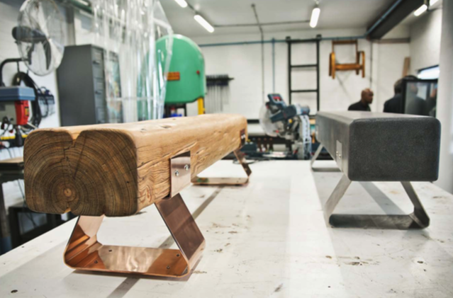 Solid wood benches by Wiid Design