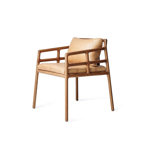 Contemporary African dining chair in Oak with Leather seat avaible in spain france and belgium