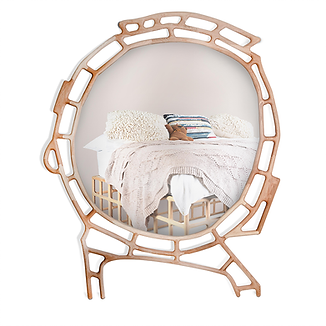 Heart limited edition large irregular shaped oak mirror by david kryauw available in spain france and portugal through mimic 2020 collection of african designs
