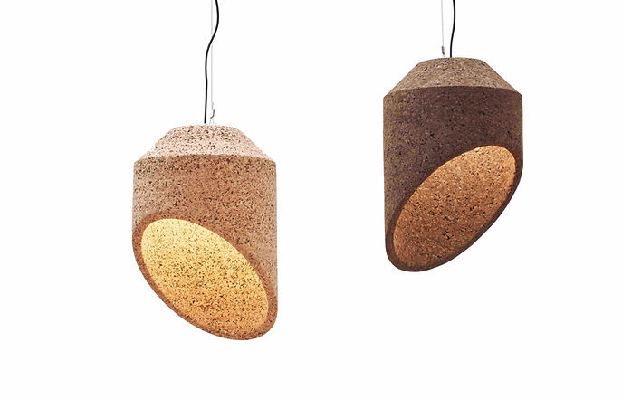 Contemporary African Cork Lighting spain france belgium