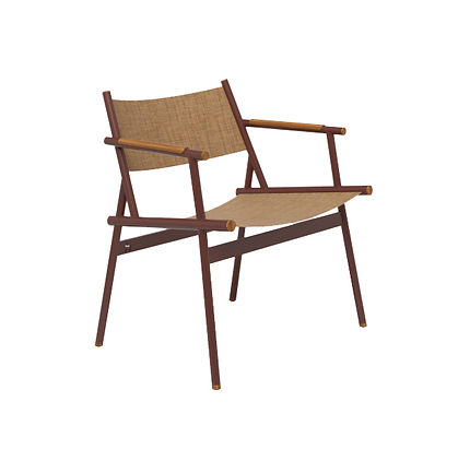 Steel & Fabric or Leather Outdoor Armchair available in Spain France and Belgium